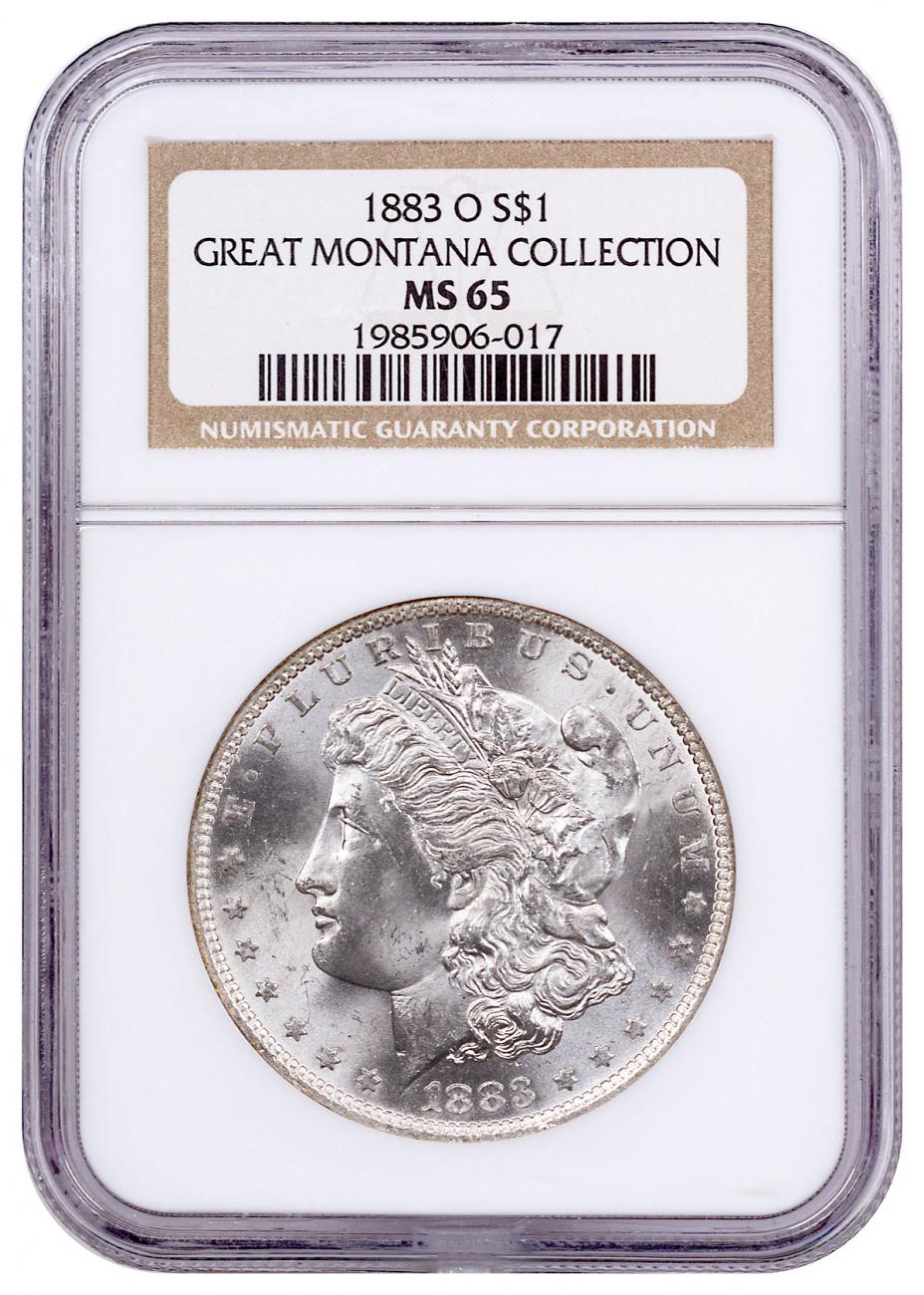 1883-O Morgan Silver Dollar From the Great Montana Collection NGC MS65