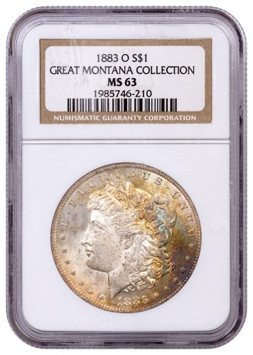 1883-O Morgan Silver Dollar From the Great Montana Collection NGC MS63 Toned CPCR 210