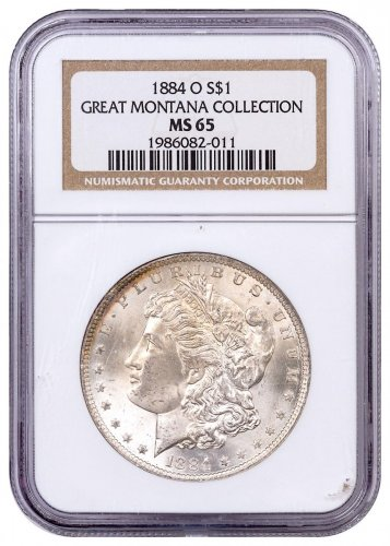 1884-O Morgan Silver Dollar From the Great Montana Collection NGC MS65 Toned CPCR 011