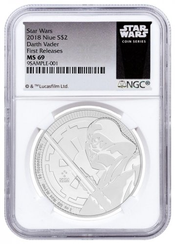 2018 Niue Star Wars Classic - Darth Vader 1 oz Silver $2 Coin NGC MS69 FR Star Wars Label