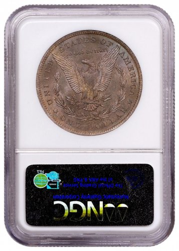 1885-O Morgan Silver Dollar From the Great Montana Collection NGC MS63 Toned CPCR 2128