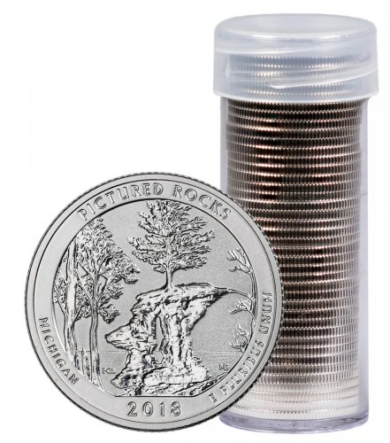 Roll of 40 - 2018-S Silver Pictured Rocks Reverse Proof America the Beautiful Quarter GEM Proof