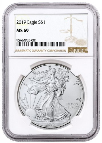 2019 American Silver Eagle NGC MS69 Brown Label