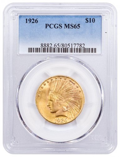 1926 Indian Head With Motto $10 Gold Eagle PCGS MS65