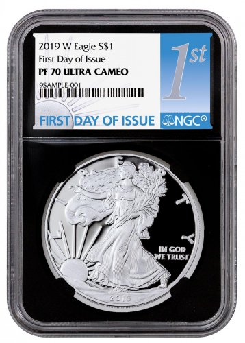 2019 W Proof American Silver Eagle Ngc Pf70 Uc First Day