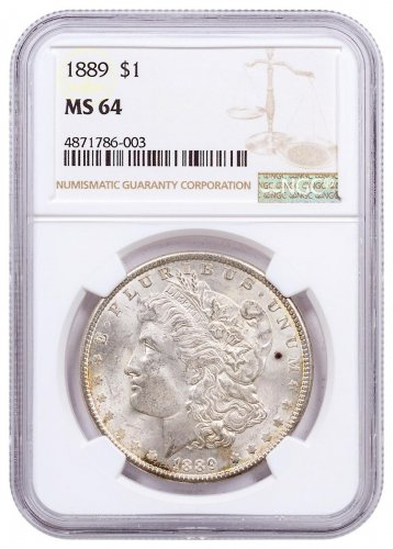 1889 Morgan Silver Dollar NGC MS64 CPCR 6003