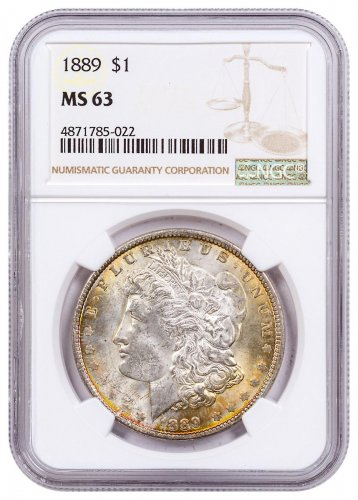 1889 Morgan Silver Dollar Toned NGC MS63 CPCR 5022