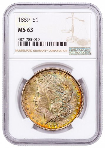 1889 Morgan Silver Dollar Toned NGC MS63 CPCR 5019
