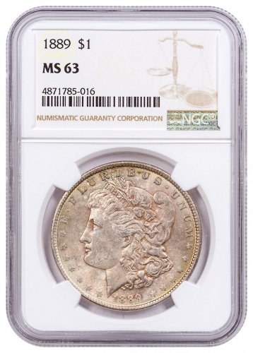 1889 Morgan Silver Dollar Toned NGC MS63 CPCR 5016