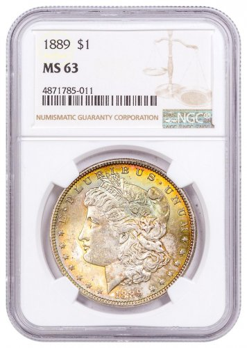 1889 Morgan Silver Dollar Toned NGC MS63 CPCR 5011