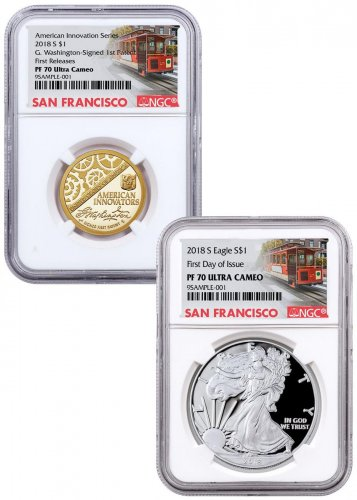 2018 S Silver Eagle Pcgs Pr69 D First Strike Trump In Your Hands Label