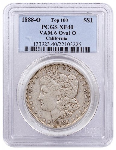1888-O Morgan Silver Dollar Top 100 PCGS XF40 VAM-6 Oval O
