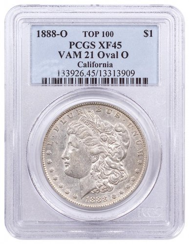 1888-O Morgan Silver Dollar Top 100 PCGS XF45 VAM-21 Oval O