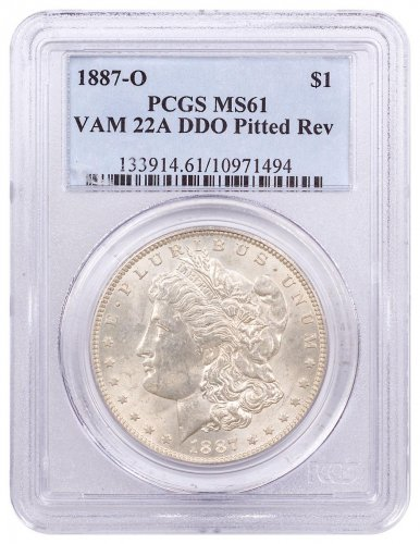 1887-O Morgan Silver Dollar PCGS MS61 VAM-22a DDO Pitted Reverse