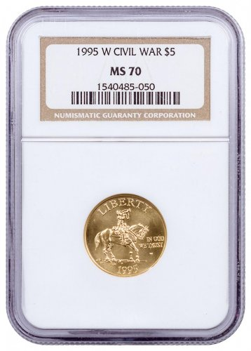 1995-W Civil War Battlefields $5 Gold Commemorative Coin NGC MS70