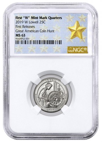 2019-W Lowell National Park America the Beautiful Quarter NGC MS63 FR West Point Star Label