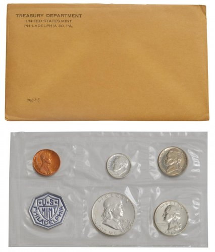 1962 U.S. Silver Proof Coin Set GEM Proof OGP