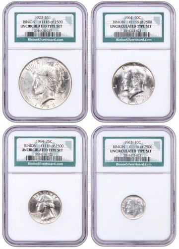 4-Piece Set - Binion Collection NGC Uncirculated Type Set #1116 of 2500