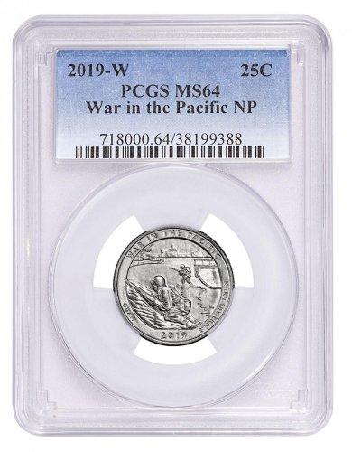 2019-W Clad War in the Pacific - Guam America the Beautiful Quarter PCGS MS64
