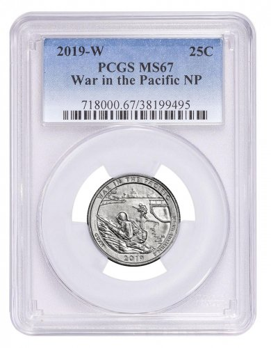 2019-W Clad War in the Pacific America the Beautiful Quarter PCGS MS67