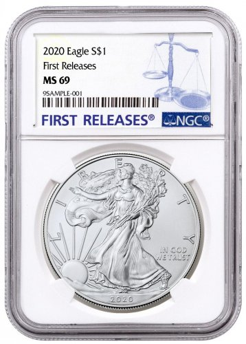 2020 1 oz American Silver Eagle $1 Coin NGC MS69 FR