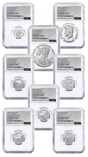 8-Coin Set - 2019-S U.S. Limited Edition Silver Proof Coins Set NGC PF70 UC ER Exclusive Silver Foil Label