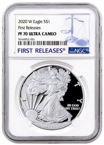 2020-W 1 oz Proof Silver American Eagle $1 Coin NGC PF70 UC FR