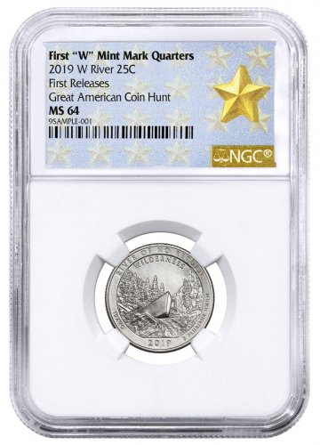 2019-W 25C Clad River of No Return Wilderness (Idaho) Quarter NGC MS64 FR West Point Star Label