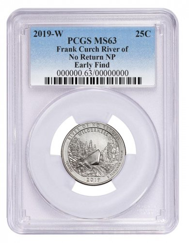 2019-W 25C Clad River of No Return Wilderness (Idaho) Quarter PCGS MS63 Early Find Blue Label