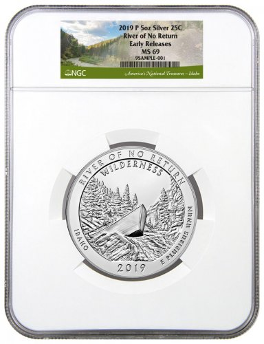 2019 25C Frank Church River of No Return (Idaho) 5 oz. Silver ATB America the Beautiful Coin NGC MS69 ER