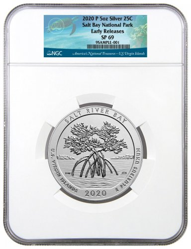 2020-P Salt River Bay NP and Ecological Preserve 5 oz. Silver America the Beautiful Specimen Coin NGC SP69 ER