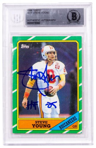 1986 Topps Steve Young BGS Authentic Autograph (Rookie Card)