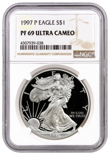 1997-P Proof American Silver Eagle NGC PF69 UC