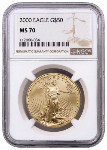 2000 1 oz Gold American Eagle $50 NGC MS70