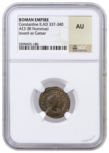 Roman Empire, Random Billon Nummus (3rd-5th Centuries AD) NGC AU