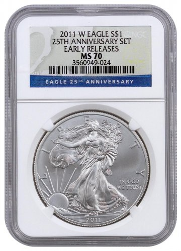 2011 W West Point Silver Eagle Ngc Ms70 Early Release 25th