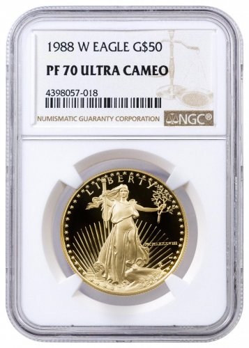 1988 W 1 Oz Gold American Eagle Proof 50 Ngc Pf70 Uc Moderncoinmart