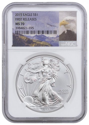 2015 American Silver Eagle NGC MS70 FR (Bald Eagle Label)