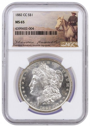 1882 Cc Morgan Silver Dollar Ngc Ms65 Theodore Roosevelt