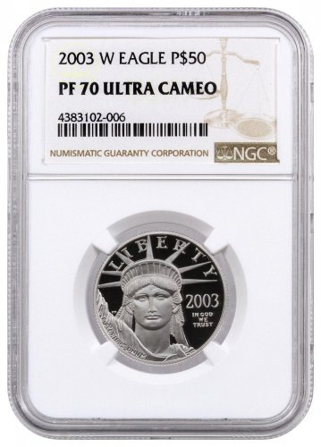2003-W 1/2 oz Platinum American Eagle Proof $50 NGC PF70 UC