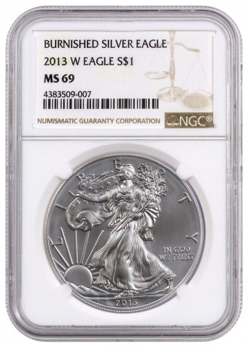 2013-W Burnished Silver Eagle NGC MS69