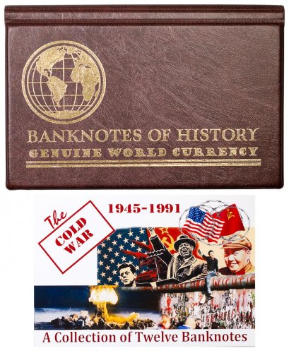 The Cold War: 1945-1991 12-Banknote Collection Album with COA