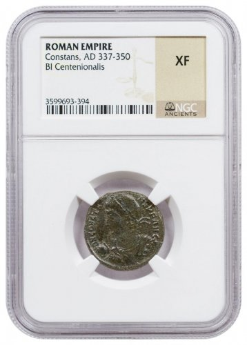 Roman Empire, Billon Centenionalis of Constans (AD 337-350) NGC XF