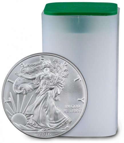 2016 $1 1 oz Silver American Eagle Roll of 20 Coins GEM BU