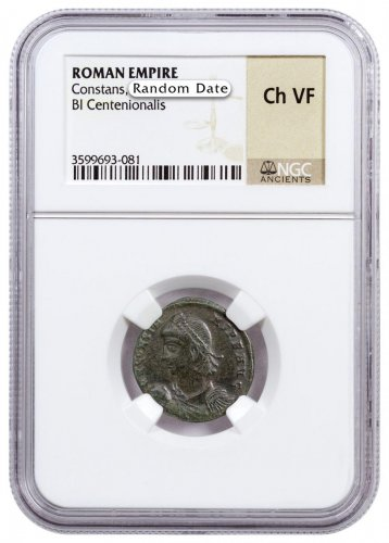 Roman Empire, Random Billon Centenionalis (3rd-5th Centuries AD) NGC Ch. VF