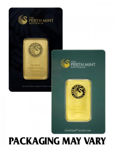 Perth Mint Logo 1 oz Gold Bar In Assay