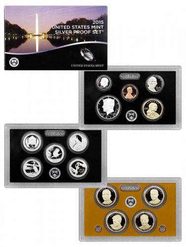 2015-S U.S. Silver Proof Coin Set GEM Proof OGP