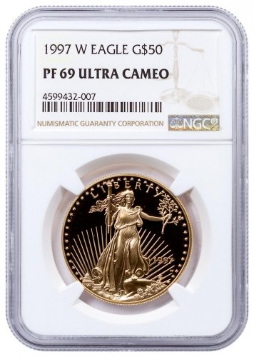 1997-W 1 oz Gold American Eagle Proof $50 NGC PF69 UC