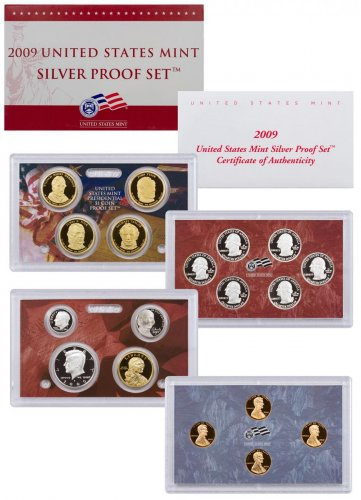 2009-S U.S. Silver Proof Coin Set GEM Proof OGP