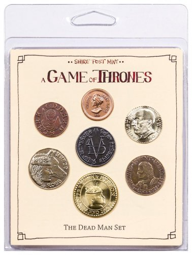 Set of 7 Fantasy Coins - A Game of Thrones Dead Man Set Original Packaging